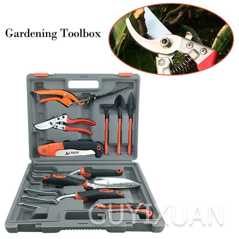 14 herramientas de jardinería pieza principal jardín de flores plantones de hortalizas de flor en maceta herramienta de poda conjunto de herramientas de siembra