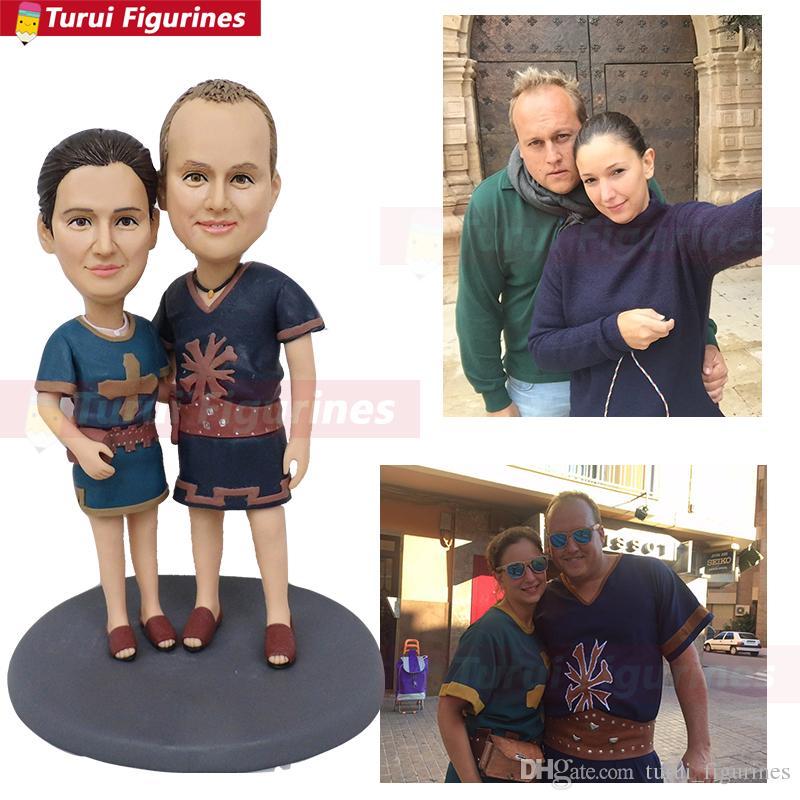 фигурка куклы на день рождения в виде куклы Лицо для влюбленных парочка ручной работы специальная кукла из оук статуэтка с изображением лица на заказ из глины