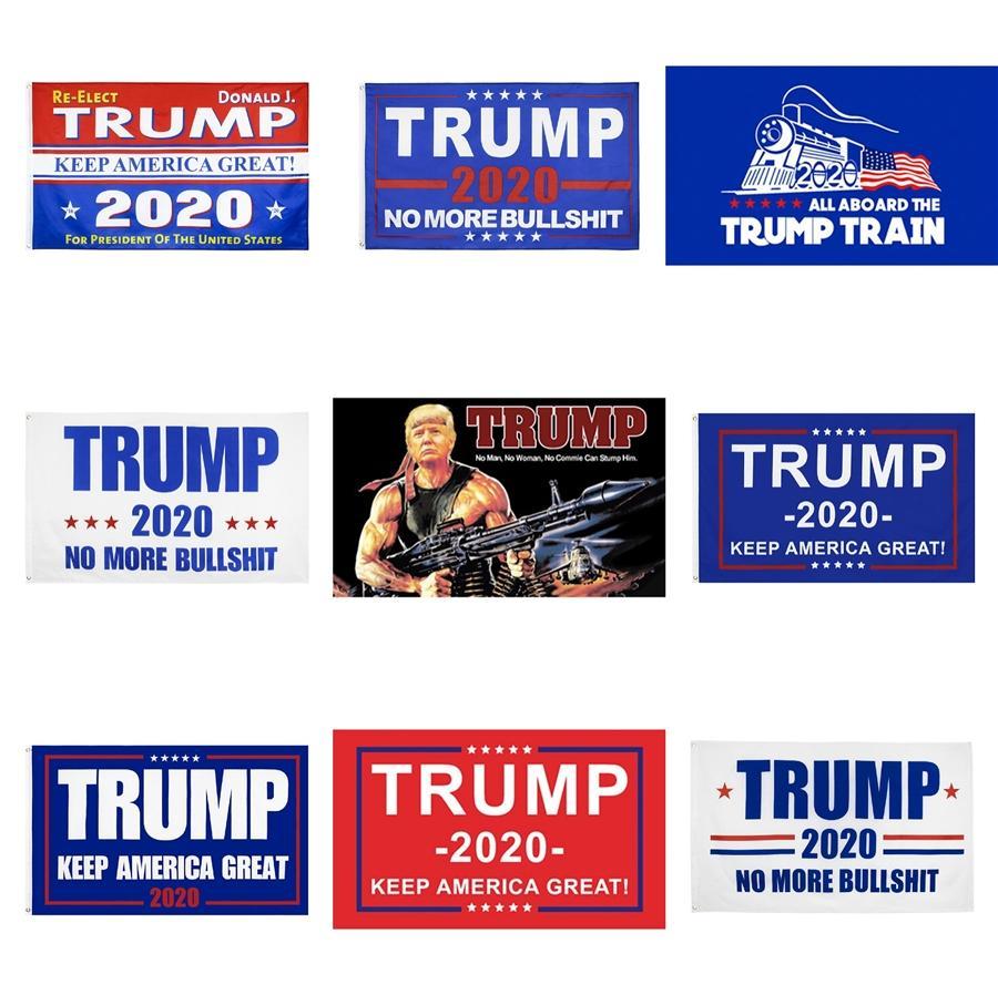 90 * 150cm Trump 2020 Banderas American President de la bandera de la elección de Joe Biden Bernie Sanders Andrew Yang 2020 Banderas Poliéster Decoración Banner Zza1759 # 46