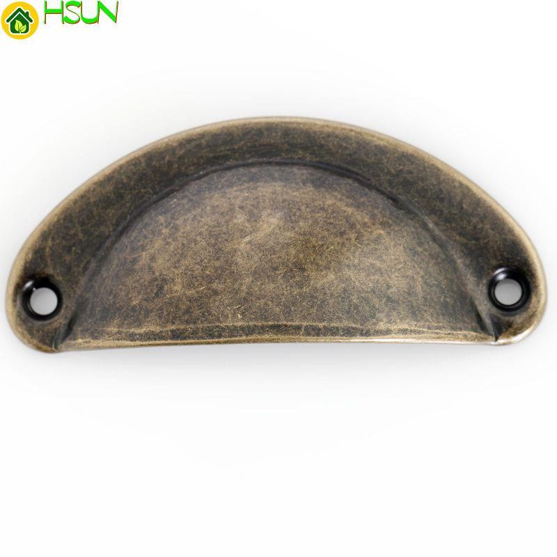 20 unids Retro Bronce Shell Knob Cajón Cajón Manija del Gabinete Manija de la Cocina Perillas de Puerta Hardware Decorativo 70mm