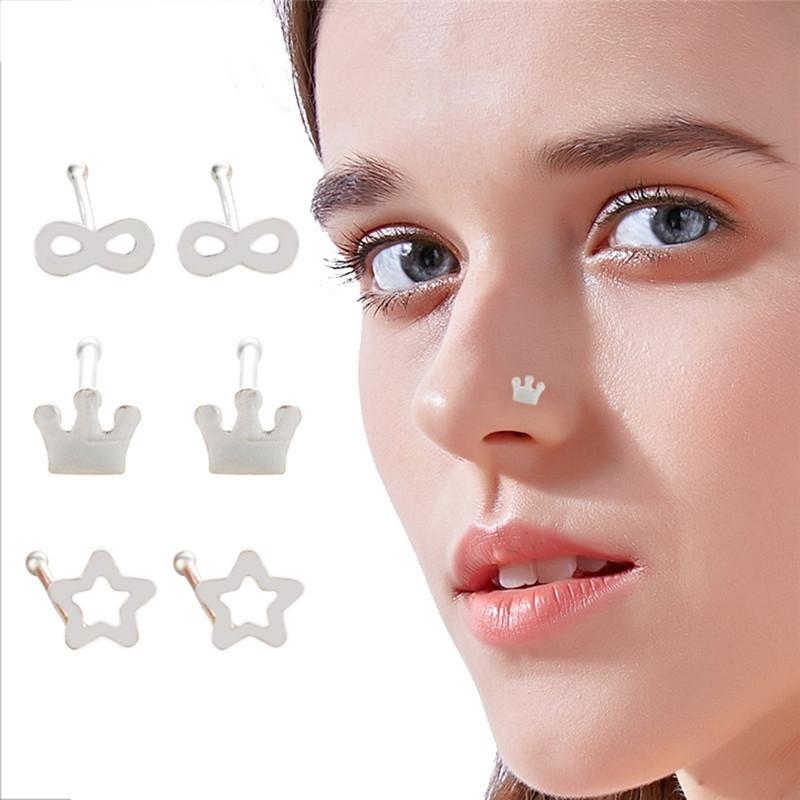 2020 Bulk Fashion Silver Plated Nose Ring Crown And Snail Nose