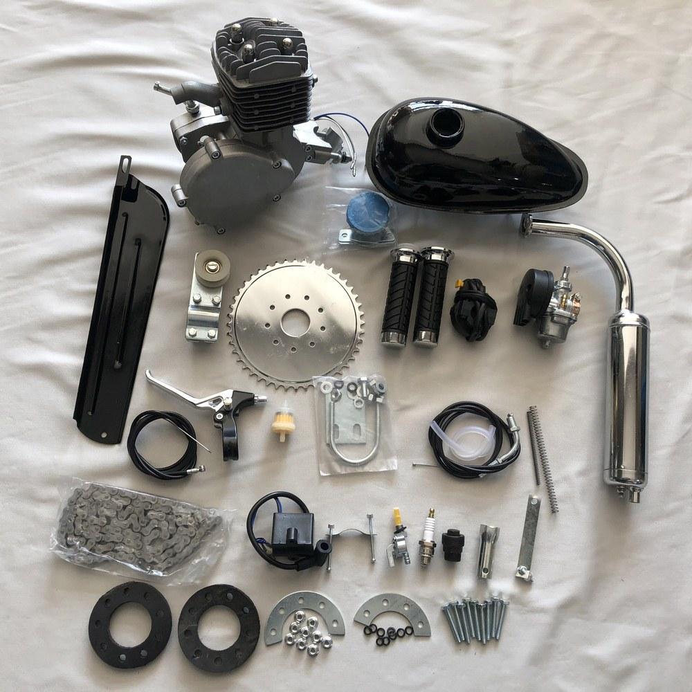 80cc 2 motocicleta bicicleta curso do motor de gasolina Kit Para DIY Bicicleta elétrica Mountain Bike Conjunto Completo bicicleta Gas Motor Motor