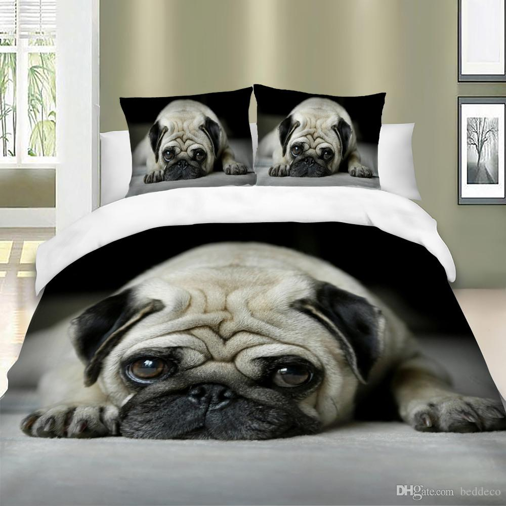 Cute Pug Bedding Set For Dog Lover