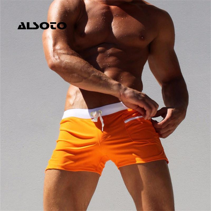 Alsoto Sexy Swimsuit Men \ Tmaillot de Bain Mens Nadar Briefs Beach Shorts Natação Troncos Zwembroek Heren Mayo Mayo Swimwear