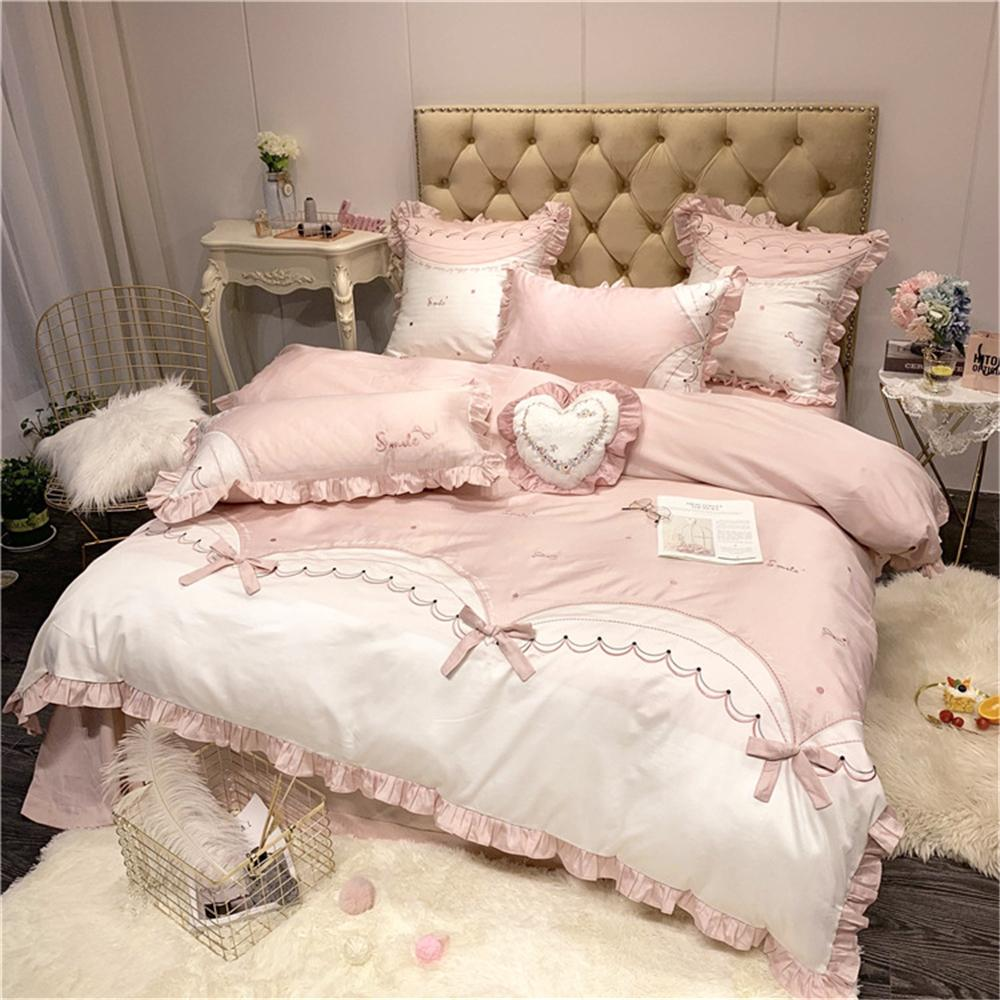 Modern Princess Style Bedding Long Staple 100% Cotton With Embroidery Pure  Cotton Full Cotton Quilt Set Of Girl Bedding Queen Bedding Cute Bedding ...