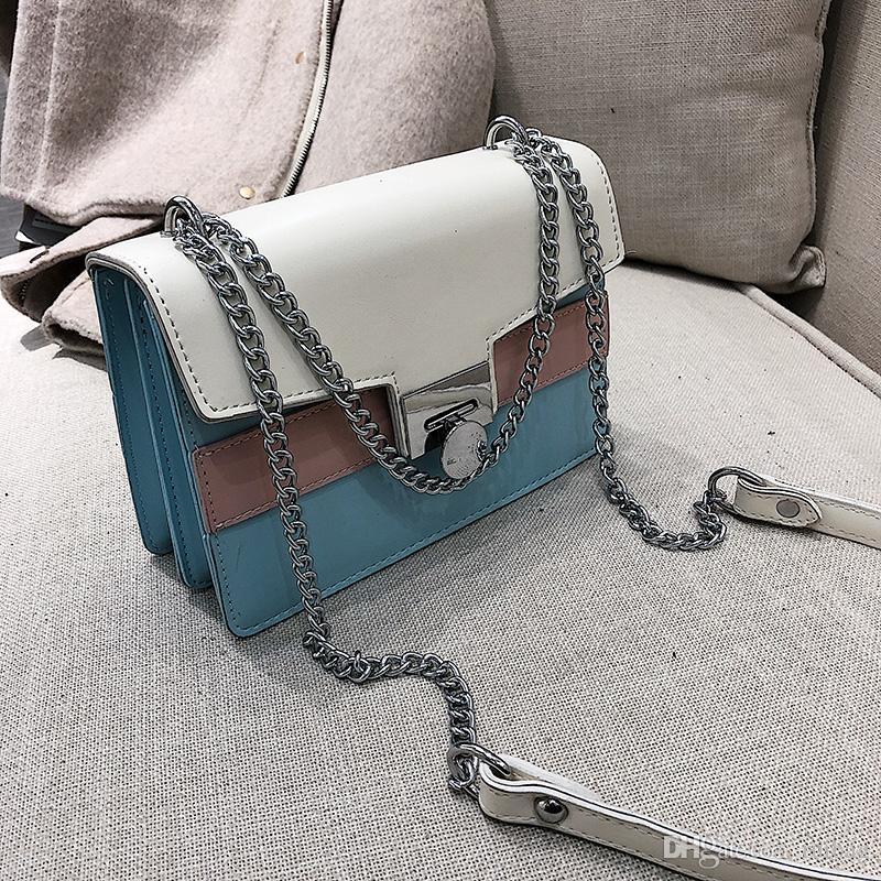 Широкий лоскутное плечевой ремень сумка женская сумка цепи сумки на ремне сумки мода сумки дамы сумка мода сумка daidai/1