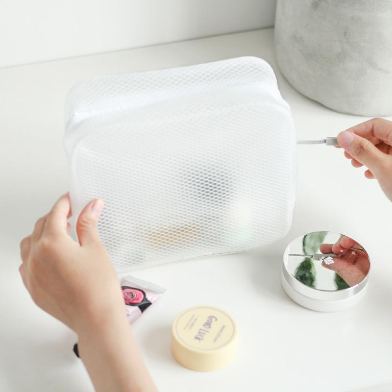 Nacai Минималистского Muji Ветер Лето BEEKING Белых Ева водонепроницаемый мытый стерео Путешествие хранение Cosmetic Bag 8235