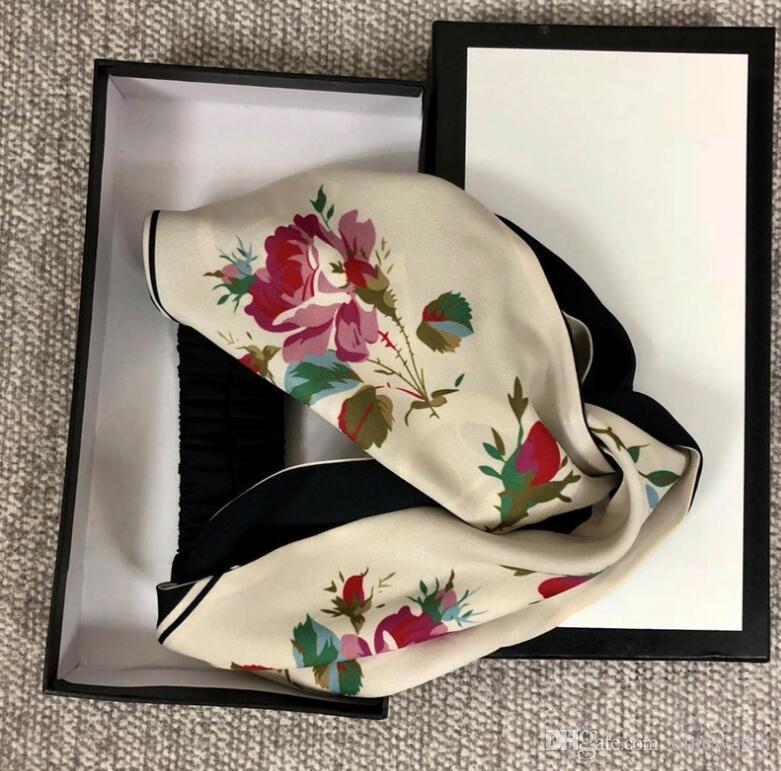 NEW LADIES WOMENS GIRLS FLORAL FLOWER HEAD NECK FASHION BANDANA SCARF UK SELLER
