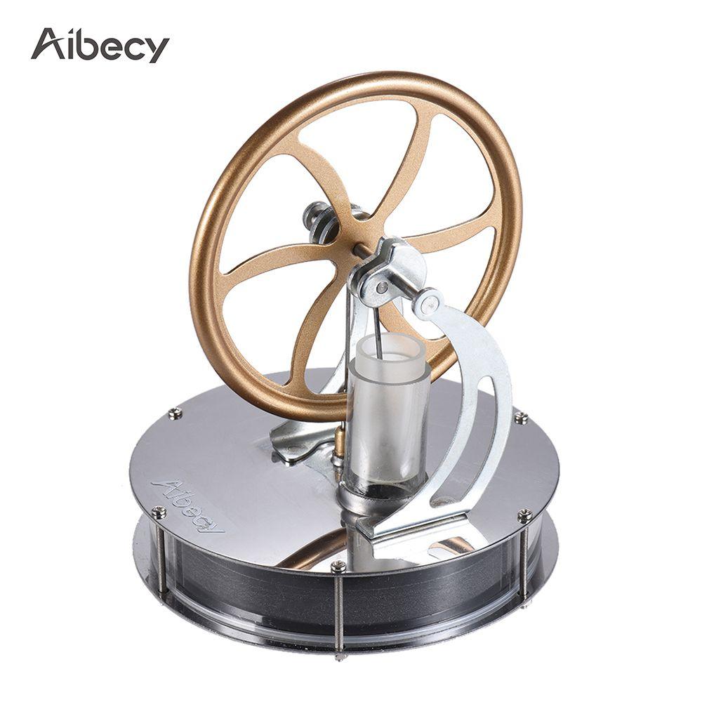 Aibecy Düşük Sıcaklık Stirling Motor Motor Isı Buhar Eğitim Çocuklar Için Diy Model Hediye Zanaat Süs Keşif Oyuncak Q190530