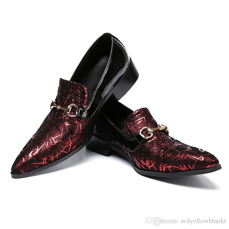 Moda İş Erkekler Elbise erkek paty balo ayakkabı Hakiki Deri Sivri Burun Düğün Resmi Ayakkabı Artı Boyutu Ofis Ayakkabı