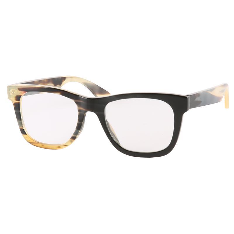 ópticos óculos unissex eyglasses óculos óculos chifre tamanho regular clássico popular escritório homens negócio quadrado chifre quadro yak das mulheres