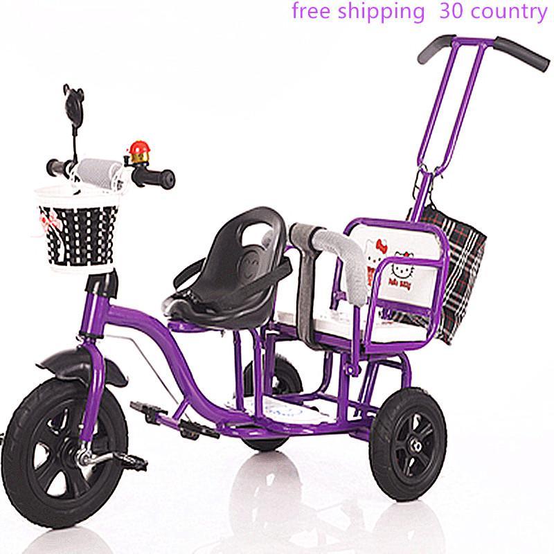 2020 وصول جديد دراجة ثلاثية العجلات التوأم دراجة طفل يومين عربة ذكر كبير مزدوج أطفال ورضع الإناث.