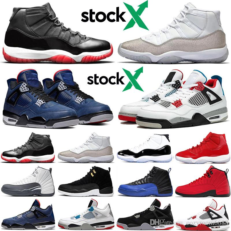2020 2019 AirJordanRetro Bred 11s Stock X Men Women Basketball Shoes 4s 12s What The Jumpman Athletic Mens Trainers Sports Sneakers From