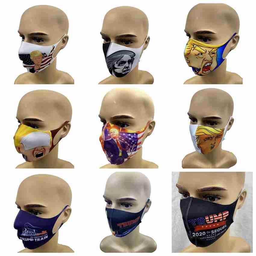 Gesichtsmasken Trump amerikanische Wahl Supplies Staubdicht Waschbar Drucke Wiederverwendbare Maske Unisex Trump 2020 Zug ZZA2415 Maske