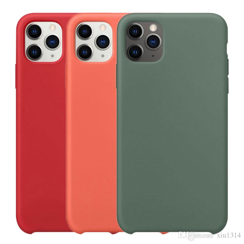 Custodia In Silicone originale per iPhone SE 11 Pro Max XR XS x Caso di lusso di seta Soft-Touch Cover per iPhone 7 8 Più 6 6 S con la Scatola Al Minuto