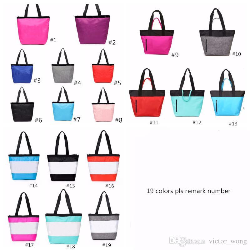 19 Colors Pink Black Handbag Shoulder Bag Classic Portable Shopping Bags Fashion Pouch for Women Ladies Tote