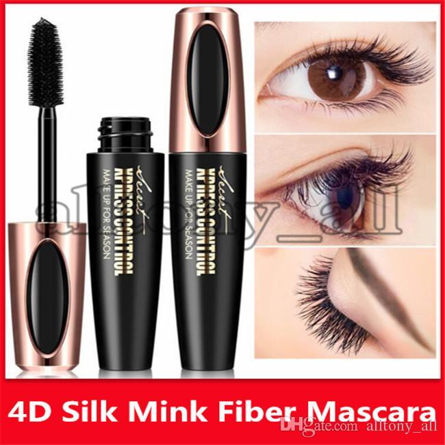 Drop shipping Macfee Marque long Curling Mascara Macfee Marque longue CurliWaterproof fibre Mascara maquillage Cils 4d Fibre Silk Lash Mascara
