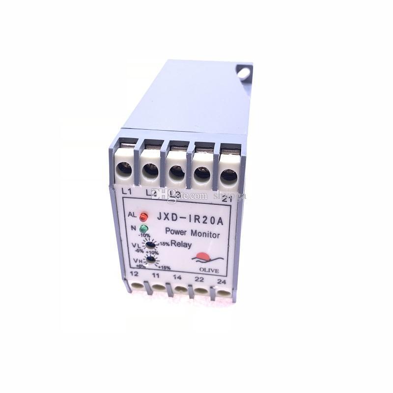 Libre d'expédition 2pcs / lot JXD-IR20A sous-tension interrupteur de protection de protection de séquence de phase pour une partie de compresseur d'air à vis