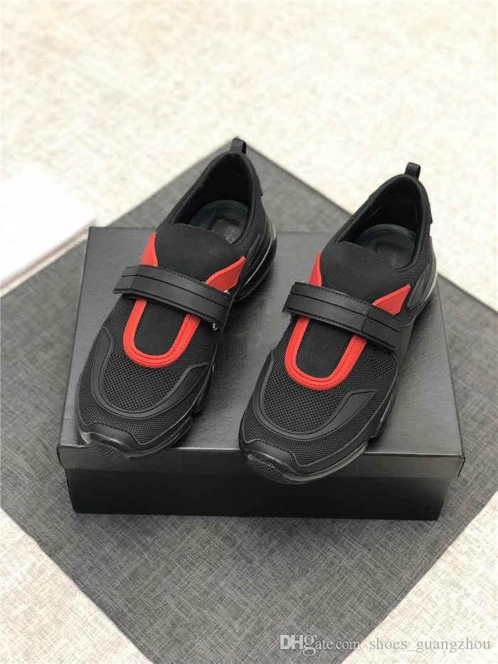 Son Cloudbust Sneakers Erkek Bot ile Kayış, Büyük Boy Sneaker Kauçuk Yama Klasik Siyah Bülent Turuncu Ile Kutu boyutu 38-45