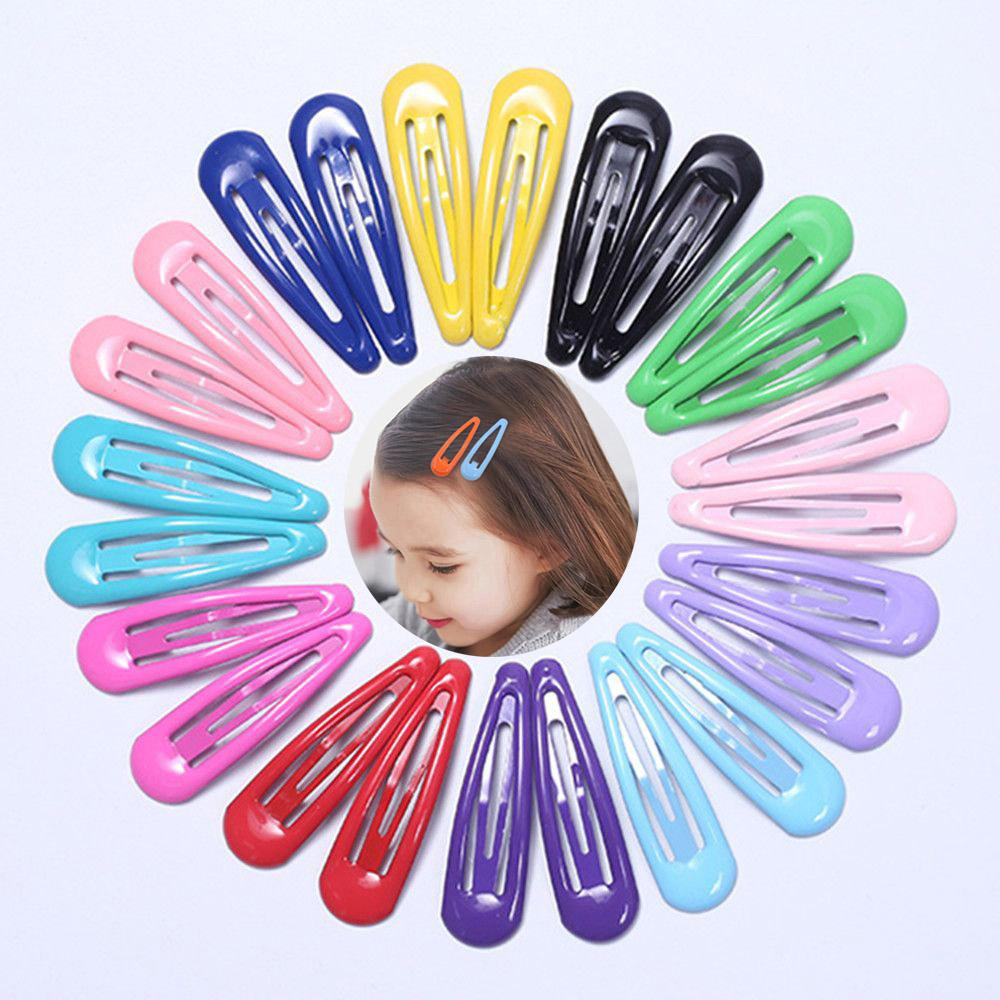 Cute Candy Color Girl Hairpin BB Snap Hair Clips Barrettes Kids Hair Accessories