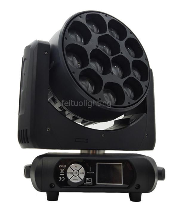 2 / lot her led kontrollü ayrı zoom zoom hareketli kafa, 4in1 12x40w led yıkama hareketli kafa rgbw sahne ışık
