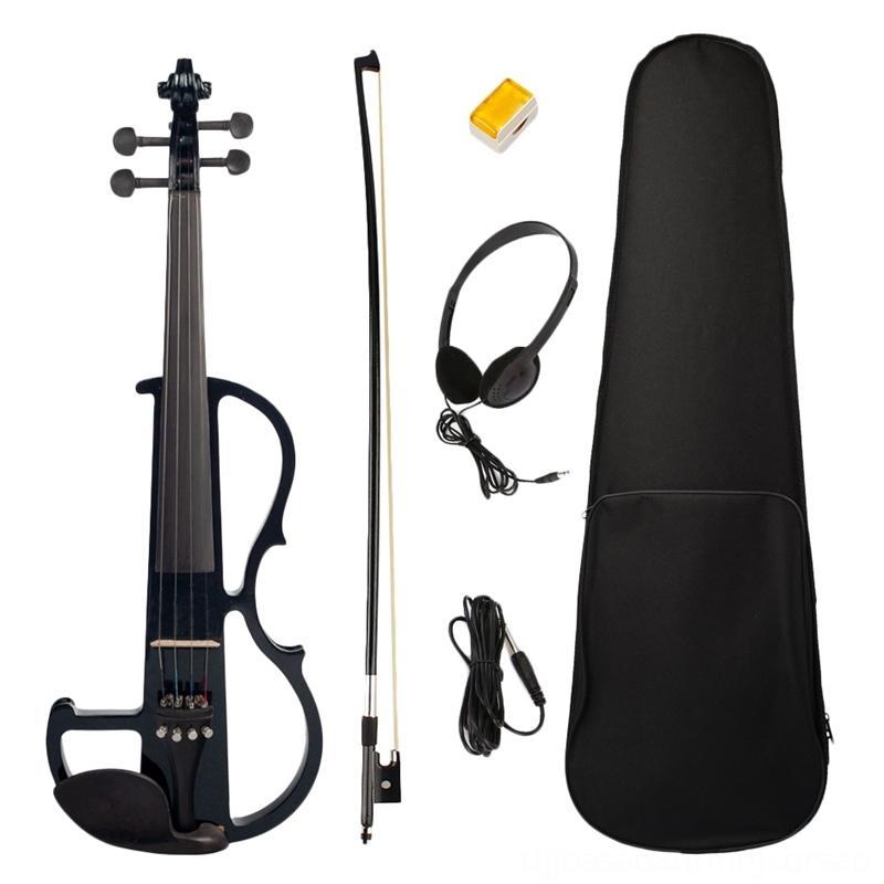 전기 문자열 (44) 케이스 활 에아와 케이스 활 이어폰 로진 설정 블랙 새로운 전기 바이올린 바이올린 문자열 (44) 전체 크기 바이올린과 전체 크기