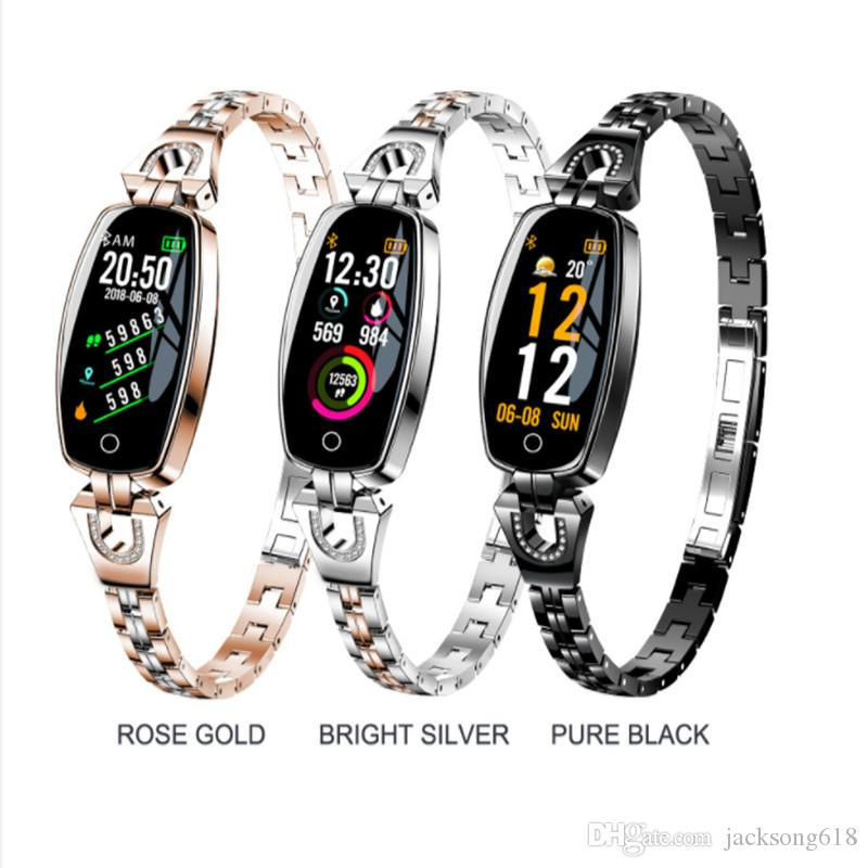 Bestselling H8 Smart Watch Women 2020 Waterproof Heart Rate Monitoring Bluetooth For Android IOS Fitness Bracelet Smartwatch wholesale