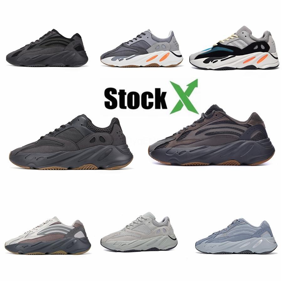 Yeni 700 Dalga Runner Leylak Atalet Erkek Ayakkabı Kanye West Tasarımcı ayakkabı erkekler Kadınlar 700 V2 Statik Spor Seankers Boyut 36-45 # 04E0B0 # # QA286
