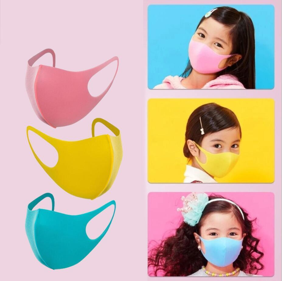 Çocuk Sünger Yeniden kullanılabilir Maskeler Şeker Renk Boy 3pcs / lot Kızlar PM2.5 toz geçirmez Nefes Ağız mufl iyi E31709 Maske Anti-dumanı