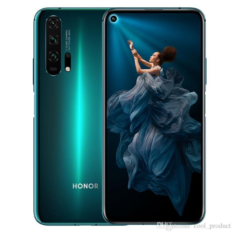 "Original Huawei Honor 20 Pro 4G LTE Telefone Celular 8 GB RAM 128 GB 256 GB ROM Kirin 980 Octa Core 6.26 ""48MP NFC ID de impressão digital Smart Mobile Phone"