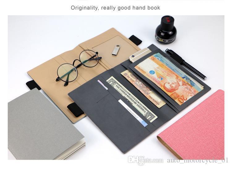 pasta portfólio função multi mão documento de livro com bloco de notas em tamanho A5 para negócios e conferências