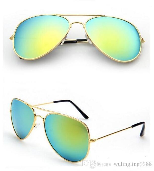 الأزياء الكلاسيكية النظارات المعدنية الإطار الملونة مرآة الرجال والنساء الشمس النظارات الشمسية الأزياء حملق نظارات الظل في الهواء الطلق الظل