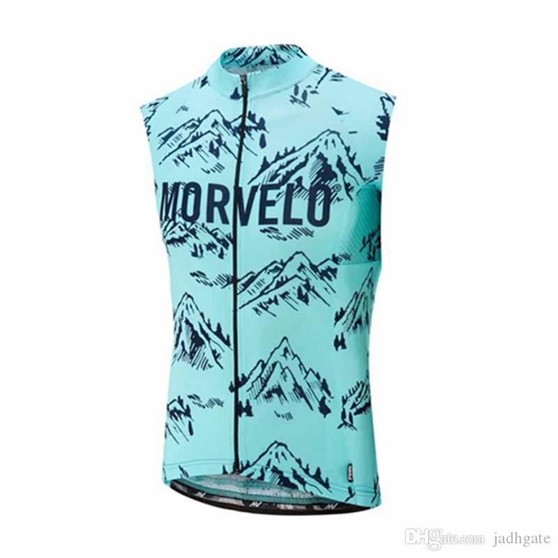 Morvelo team Cycling Sleeveless jersey Vest Comfortable breathable Quick Dry 100% Polyester Tops Sports Outdoors Bicycle mens U62963