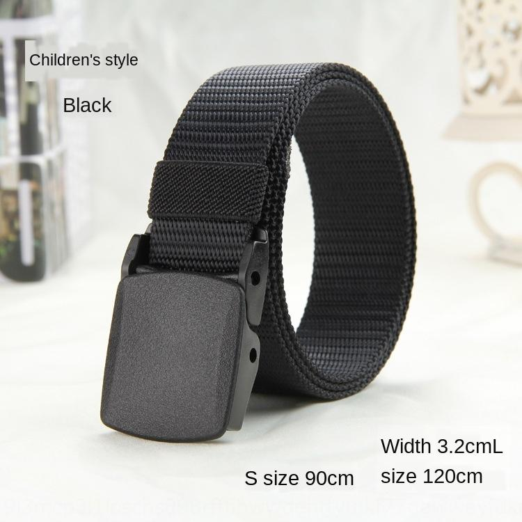 3.0cm outdoor nylon thin students Children's belt narrow belt plastic buckle smooth men Canvas canvas and women