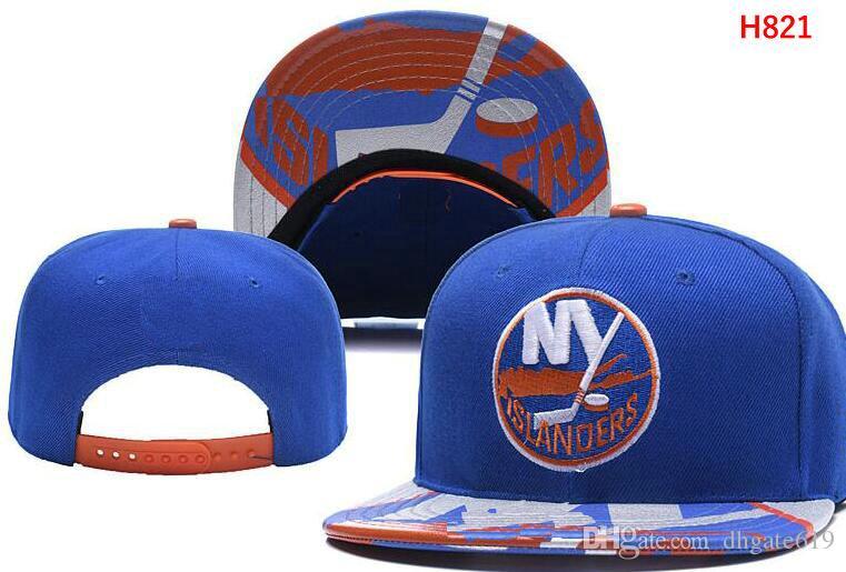 New York Islanders Hóquei No Gelo Gorros De Malha Bordado Ajustável Chapéu Bordado Snapback Caps Preto Cinza Branco Costurado Chapéus Um Tamanho