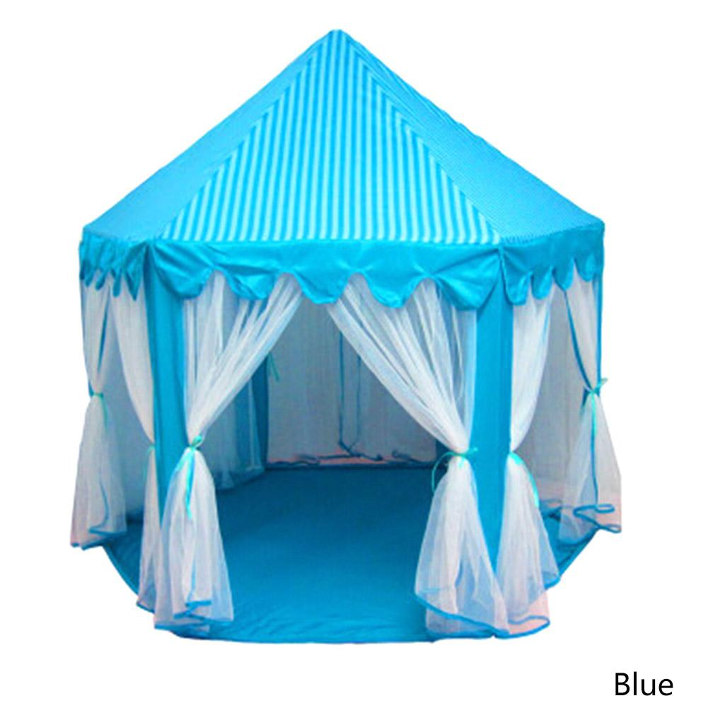 Portable Princess Castle Gioca Toy Tent Attività per bambini Fairy House Kids Indoor Outdoor Playhouse Beach Tenda Baby Playing Toy