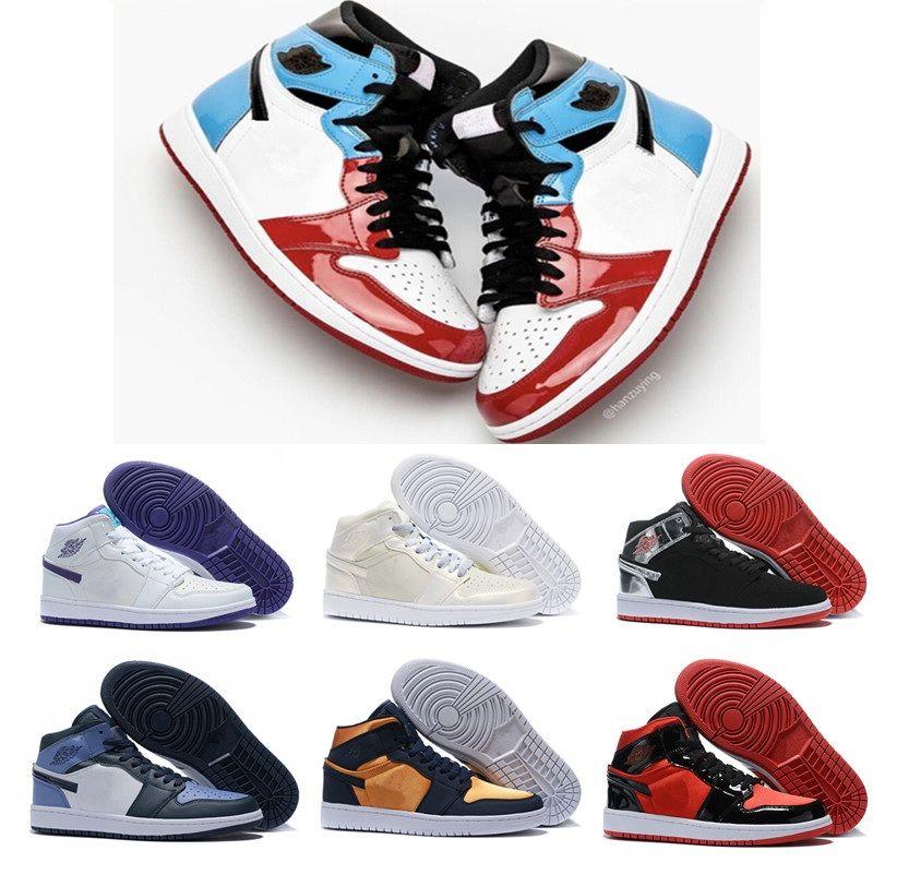 Jumpman 1 High OG medalha de ouro pintura preta ouro vermelho camaleão azuis dedos Men Basquete sapatos 1s Designer Esporte Formadores sapatilhas das mulheres 36-46