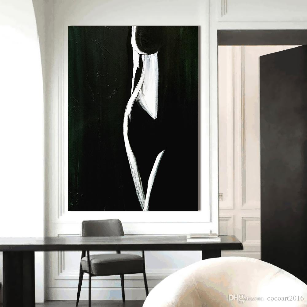 2019 Wall Art Pictures For Living Room Home Decor Modern Nude Painting  Female Form Black White Canvas Art Painting No Frame From Cocoart2016,  $26.77 | ...