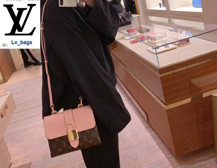 Yangzizhi New Locky Bb Cadeado Bloqueio Handbag M44080 Bolsas Bolsas Top Alças Shoulder Bags Cruz Evening Totes saco de corpo
