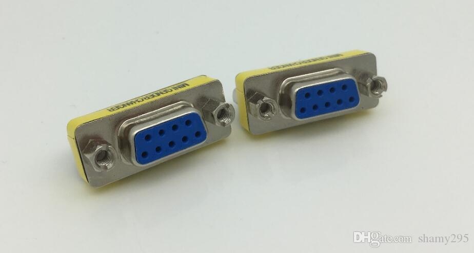 1pcs 9 Pin RS-232 DB9 FeMale to FeMale Serial Cable Gender Changer Coupler Adapter DB9 extend adpter free shipping hot sell new wholesale