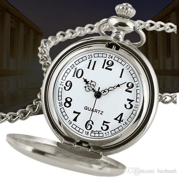 100 % 새로운 패션 클래식 블랙 총기의 색상이 광택 복고풍 골동품 회중 시계 공장 판매 대형 회중 시계 선물 테이블 도매