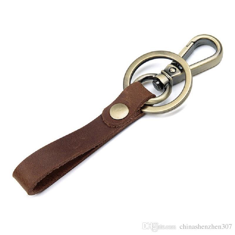 J.MD شخصية أصلية اليدوية الرجعية الجلود البرونزية سيارة المفاتيح حقيبة شماعات 8432