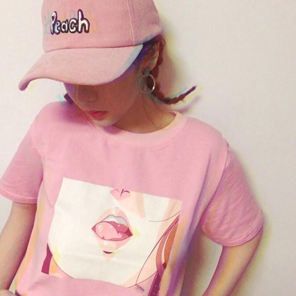 2016 koreanische Art-verursachende lose beiläufige Grund Spiel rosa weiblicher Kurzarm T-Shirt