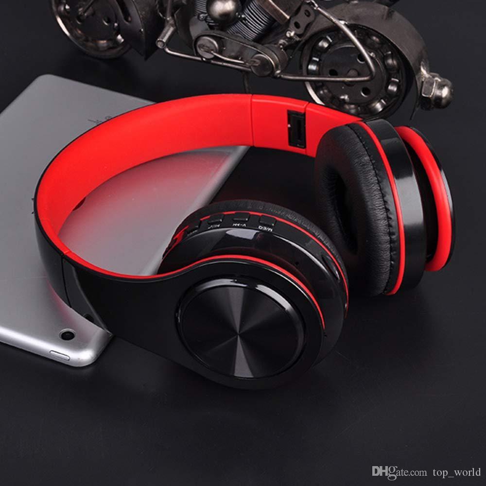 B3 휴대용 무선 이어폰 블루투스 스테레오 Foldable 헤드셋 오디오 MP3 음악을위한 마이크가있는 조정 가능한 헤드폰