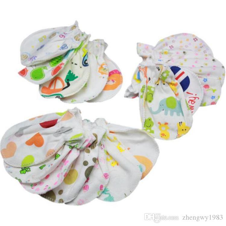 Малышка любит анти~d схватив перчатку ухода за новорожденный ребенком Анти Скретча перчатки дети новорожденных животных печать Рукавица Оптовой ZFJ662