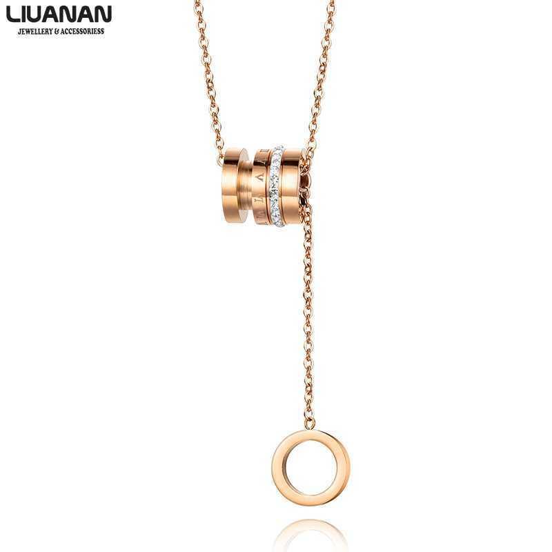 Acero inoxidable collar pendiente del estilo de Corea Roma numerales collar de la mujer regalos para las mujeres de chicas joyería y accesorios