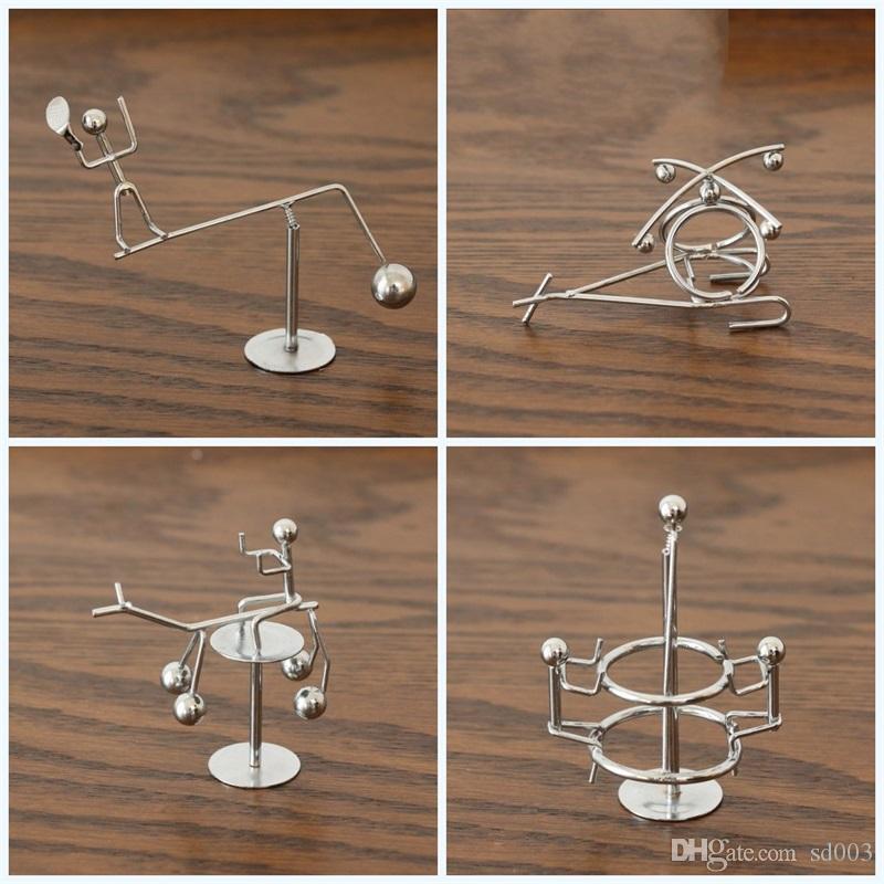Balanceado Pêndulo Ornamento Little Iron Swing Man Originalidade Desktop Descompressão Simples Brinquedos Modernos Presente Favor de Partido 4al E1