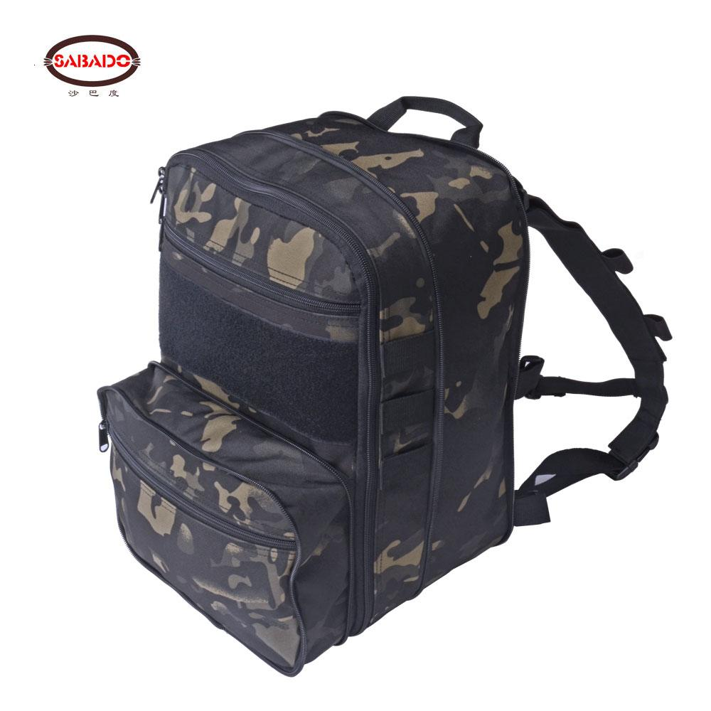 Flatpack D3 Tactical Backpack Hydration Carrier Expansible Molle Pouch Airsoft Multipurpose Vest Assault Softback Travel Bag T200602