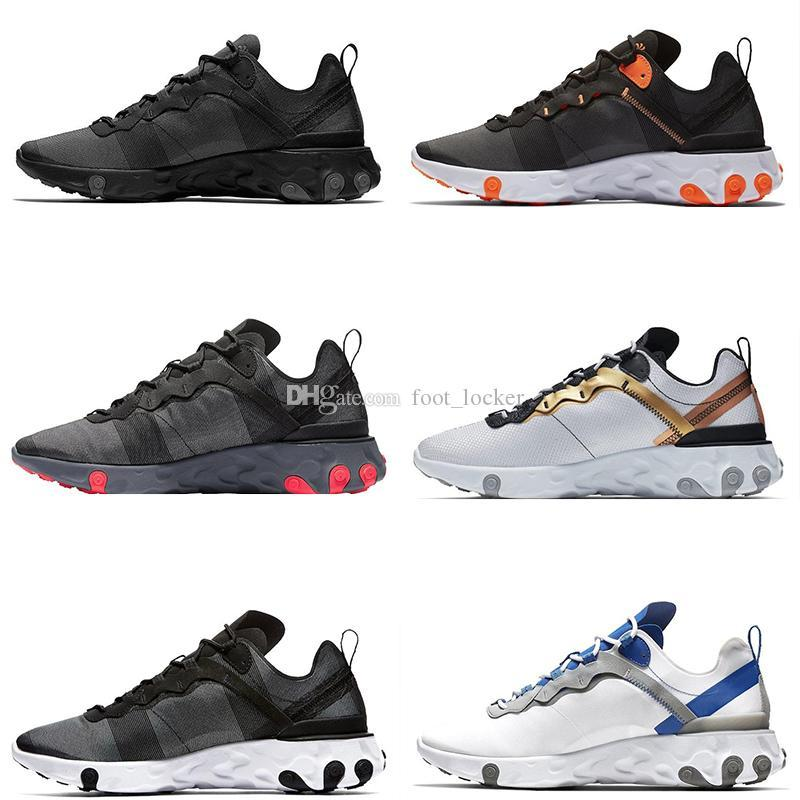 Hot Sale Taped Seams Solar Red React Element 55 Total Orange Men Running Shoes For Designers Sports Kids Mens Women Trainer 55s Sneakers Sneakers For