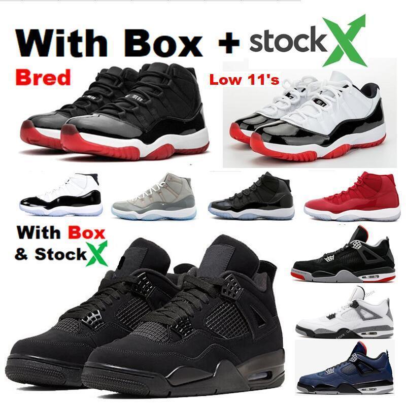2020 SE 95S Neon Black Cat 4s 4 Low Bred 11s Concord 11 Valor blu di pallacanestro scarpe da tennis all'ingrosso con la scatola Space Jam